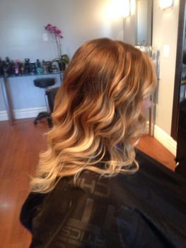 Our salon in Fredericton keeps up to date with the latest trends like balayages.